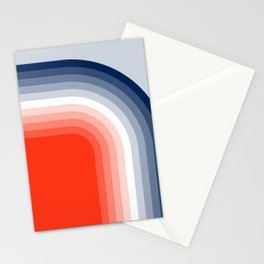 70s Stripes Rainbow Stationery Cards