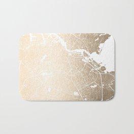 Amsterdam Gold on White Street Map II Bath Mat
