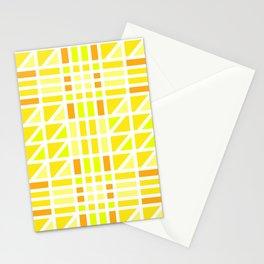 Blazing Yellow Mosaic Stationery Cards