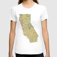 california T-shirts featuring California by McKean Studio