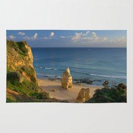 Praia da Rocha solitary rock Rug