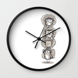 Hedgehog Totem Wall Clock