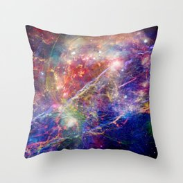 Galactic Mountain Throw Pillow