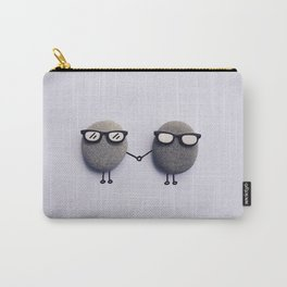 TWO LITTLE STONES HOLDING HANDS Carry-All Pouch