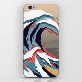 The Great Wave in Colour. Tigerstripe Camo. iPhone Skin