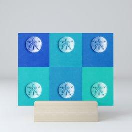 Sand Dollars - multibluegreens! Mini Art Print