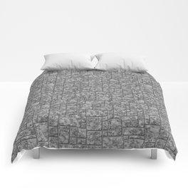 Grey loft, marble Comforters