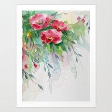 Floral -watercolors Art Print