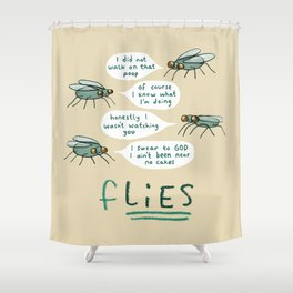 fLIES Shower Curtain