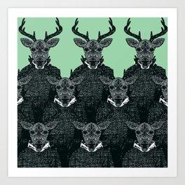 Chorus of Deer Art Print