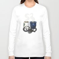 writer Long Sleeve T-shirts featuring Writer and Detective  by Edite Kirse