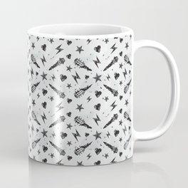 Heavy Metal Pattern | Music Fesitval Rocker Coffee Mug