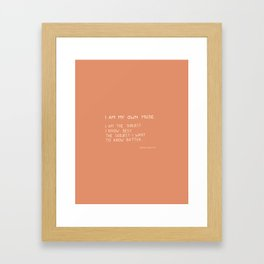 I am my own muse Framed Art Print