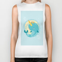 NARWHAL - BE AWESOME! Biker Tank