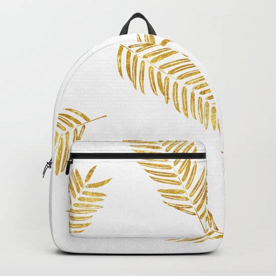 Gold Leaves Pattern Backpack