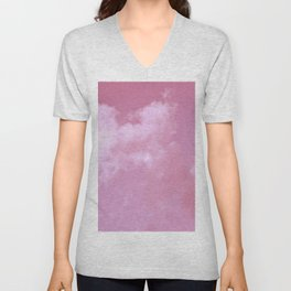 Floating cotton candy with pink Unisex V-Neck