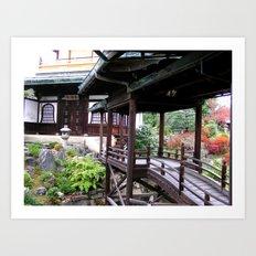 Kyoto Temples #3 Art Print