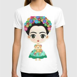 Frida cartoon T-shirt