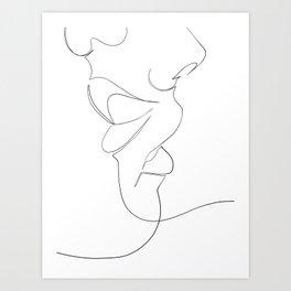 bisou Art Print