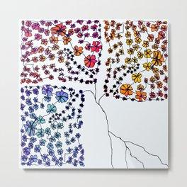 Wall Flowers Metal Print