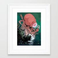 cthulhu Framed Art Prints featuring cthulhu by Nahum Ziersch