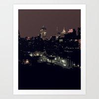 A New York Night Art Print