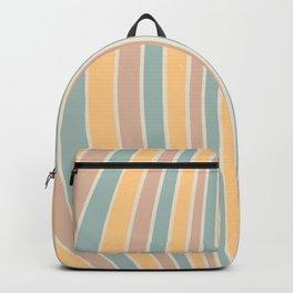 Warped Stripes - Vintage Pastel Colors Backpack