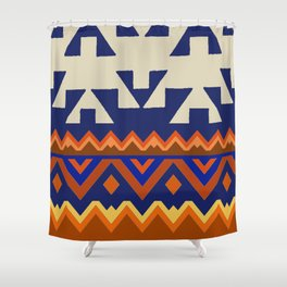 Aztec Folk Art Shower Curtain