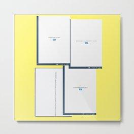 screen yellow Metal Print