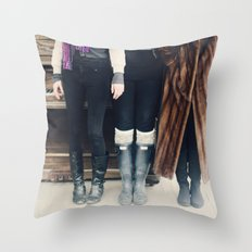 the piano. Throw Pillow