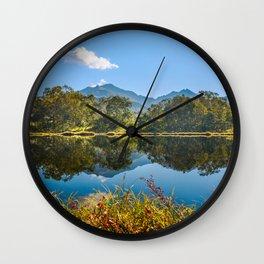 Autumn mirror Wall Clock