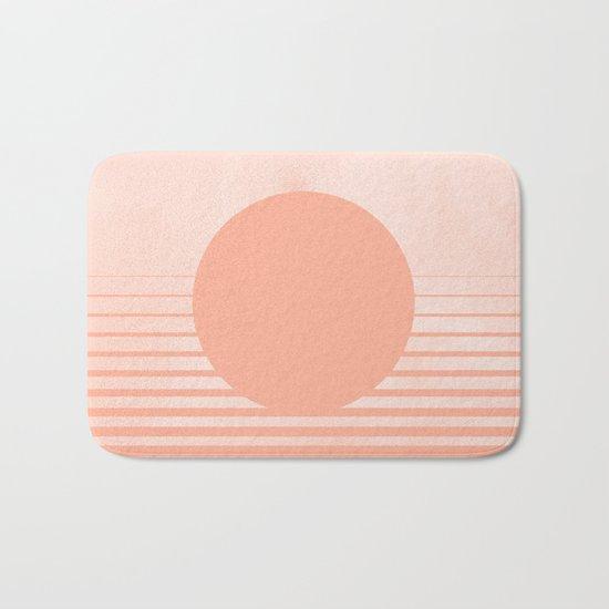 The Sweet Life Collection - Peach Coral Sun Gradient Bath Mat