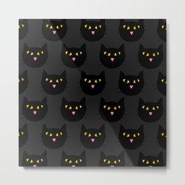 Black Cats Metal Print
