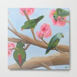 A Parrot's Paradise Metal Print