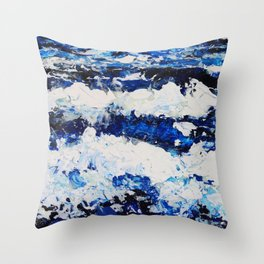 Waves II Throw Pillow