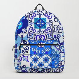 Moroccan Tile islamic pattern Backpack