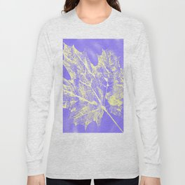 Eco botanical print in yellow - purple Long Sleeve T-shirt