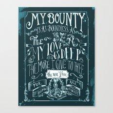 Love Quote Canvas Print