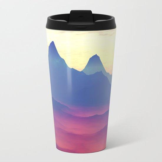 Mountains of Another World Metal Travel Mug
