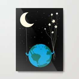 Under the moon and stars Metal Print