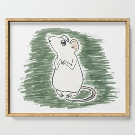 Squeak, the Tiny Inktober Mouse Serving Tray