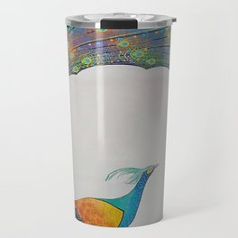 Peacock Modern Art Travel Mug