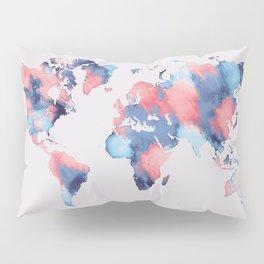 map world map 58 Pillow Sham