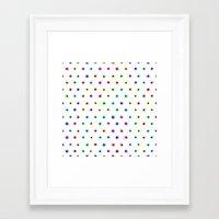 polka Framed Art Prints featuring POLKA by Rceeh