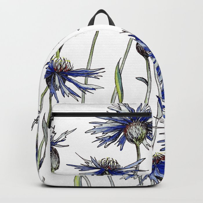 Blue Cornflowers, Illustration Backpack