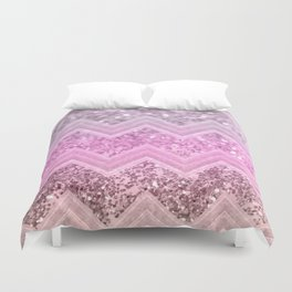 Unicorn Glitter Chevron #2 #shiny #decor #art #society6 Duvet Cover