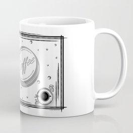 Coffee Love, Coffee Cup, Coffee Doodle Art, Coffee Illustration, Black and White Coffee Design Coffee Mug