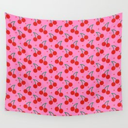 Cherry Bomb Pattern Wall Tapestry