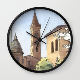 SAN DOMENICO, Bologna Travel Sketch by Frank-Joseph Wall Clock