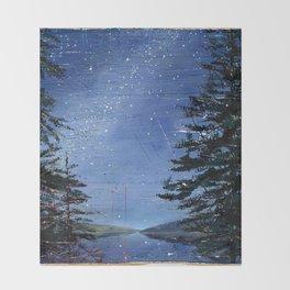 morning stars Throw Blanket